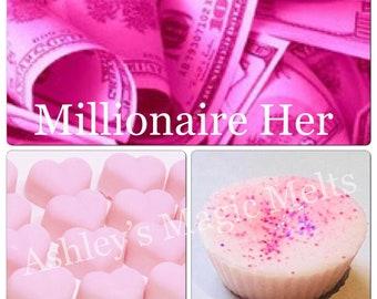 3 lady million perfume soy wax melts, perfume dupe designer melts, strong wax melts, cheap wax, wax tart melts