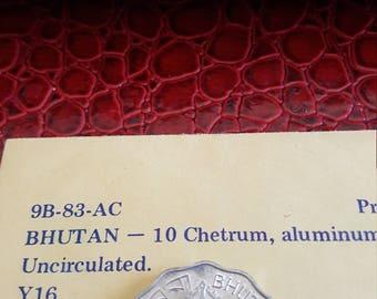 Bhutan 10 chetrum Alum.1975 UNC