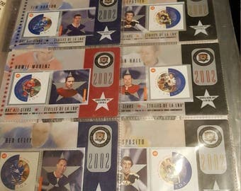 2002 NHL Stamp Cards Set Of 6 New Sealed