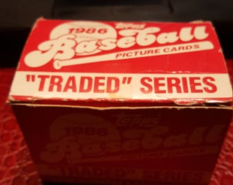 1986 Topps Baseball Traded Set (132 ct.) *Bonds, Bo Jackson, Clark RC*