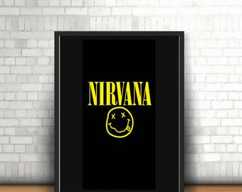 Nirvana Band Smiley Face Poster