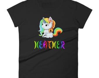 Heather Unicorn Ladies T-Shirt