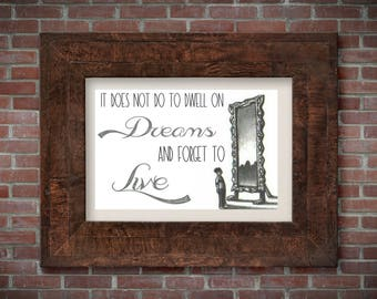 Harry Potter mirror of Erise wall art, harry potter quotes, dumbledore quotes, harry potter decor, wall decor, quote art, art print, always,
