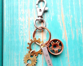 Steampunk inspired keychain