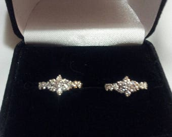 14K Gold Earrings with .78 ct tw Diamonds