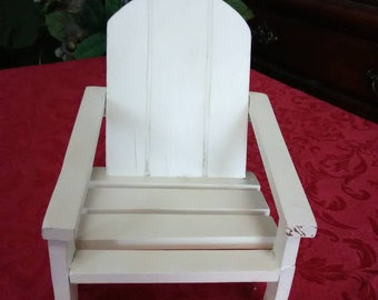 Vintage Barbie doll house furniture. Wooden white lawn chair.