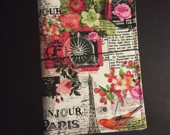 Paris/Flower Themed Travelers Notebook w/ extras