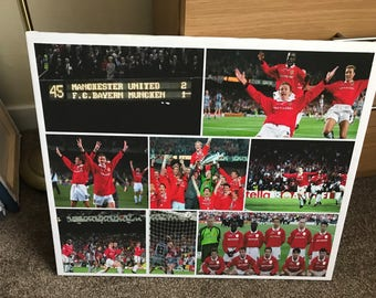 Manchester United Champions League Canvas