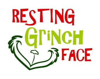 Resting Grinch Face SVG Christmas Circle monogram. Vectors cuttable files Christmas svg png jpeg download Christmas