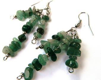 Jade Natural Stone Earrings
