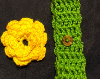 Headbands with detachable flowers