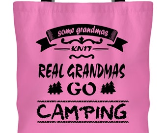 I Love Camping Canvas Tote Bags, Some Grandmas Knit Tote Bags