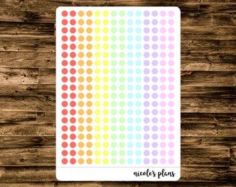 Transparent Colored Dot Stickers for Planner (266 Count) • Custom Planner Dot Stickers • Stickers for Happy Planner, Erin Condren