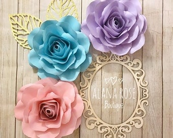 Paper flower set / nursery decor