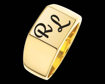 Engraved Ring - Personalized Signet Ring - Custom Signet Ring - Initials Ring - Personalized Ring - Personalized Jewelry - Personalized Gift
