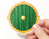 Hobbit Door Sticker - LOTR - Lord of the Rings