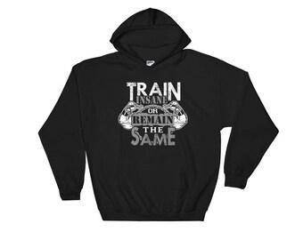 Train Insane Or Remain the Same Men's Hooded Sweatshirt