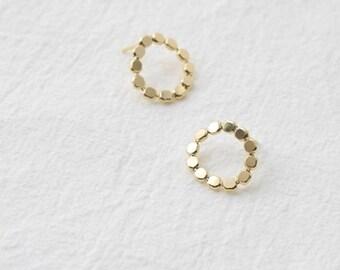 lead circle earring