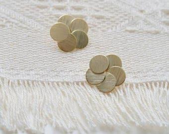 circle flower earring