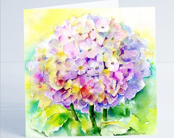 Hydrangea Flower Greeting Card by Sheila Gill