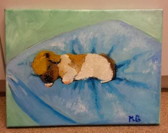 Puppy Oil Painting