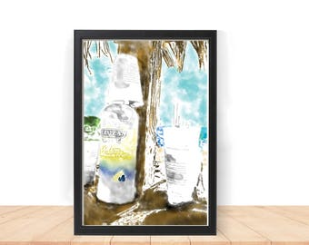 Island Life Printable Wall Art. Instant Download.