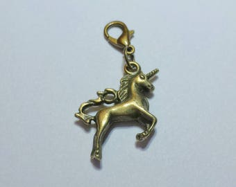 Simple Bronze Unicorn Planner Charm