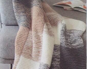 Plaid knit in garter stitch