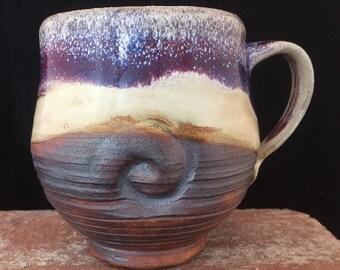 Mug-014-Ceramic Mug, Free Shipping, Ceramic Cup, Handmade Mug, Earthy Mug, Wabi Sabi Style Cup, Coffee mug/Cup,