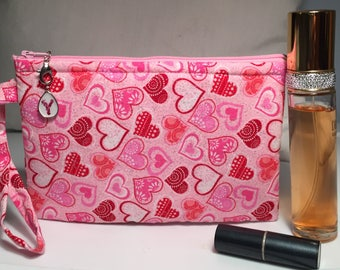 Heart Patterned Accessory Bag