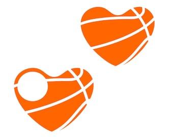 Basketball heart monogram Svg basketball svg Monogram svg Vector cut file cutting file for Cricut Explore Silhouette Cameo dxf files