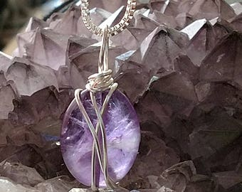 Amethyst Wirewrapped Necklace