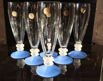 Crystal Glasses for Champagne ,Set of 6 Champagne  Flutes,Champagne  Flutes Glasses