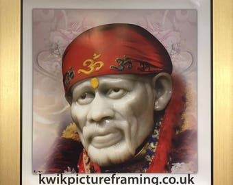 "Sai Baba of Shirdi Hindu God Size - 10"" X 10"" Inches - Picture Photo Frames"