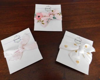 think spring newborn baby girl headband collection- 3 pieces