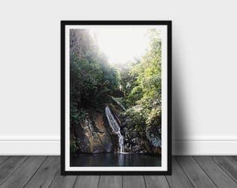 Tropical waterfall (Print)