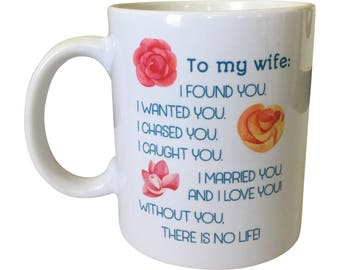 Wife Gift Mug | To My Wife Heartfelt Message | Anniversary Gift Mug