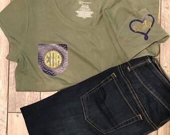 Monogram pocket t shirt