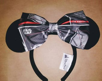 Star wars tie fighter large bow hair clip
