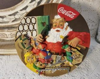 """Coca-Cola """"Santa's Workshop"""" collector plate"""
