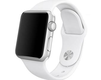 White Silicone Sport Band for Apple Watch Series 1, 2 & 3 M L 42mm