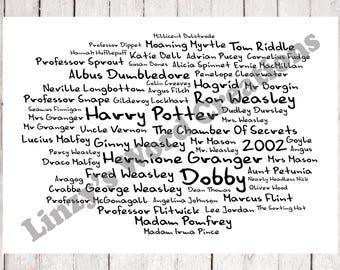 Harry Potter The Chamber Of Secrets Film Word Art, 2002, Custom, A4, Print