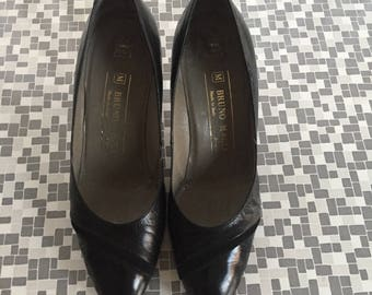 BRUNO MAGLI 80s classic Pumps black leather sz 36