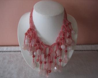 Cherry Quartz & Rose Quartz Necklace