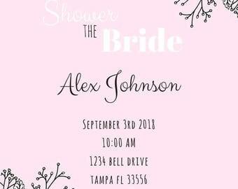 Lets Shower The Bride Bridal Shower Invite