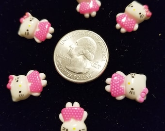 Resin Cute Standing Kitty 10 Pieces for charms/earrings/necklaces/ hairbow/scrapbooking /crafts, etc.