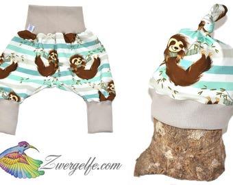 Baby Set bloomers cap sloths