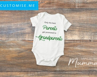 "Pregnancy Announcement ""Only the Best"", New Baby Bodysuit, Personalised Baby Onesie"