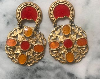 Vintage Multicolored Earrings