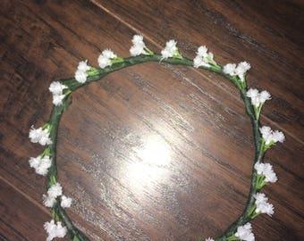 Baby white flower crown